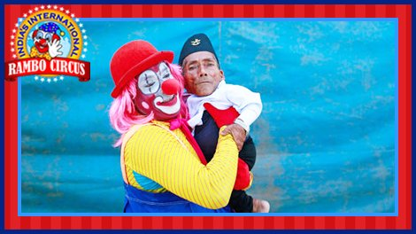 Circus clown with Mr. Dangi